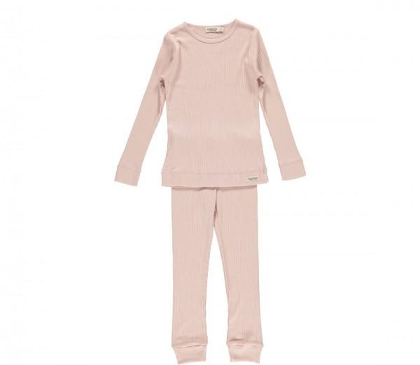 Pyjama 2-Teiler Feinripp Modal/Baumwolle