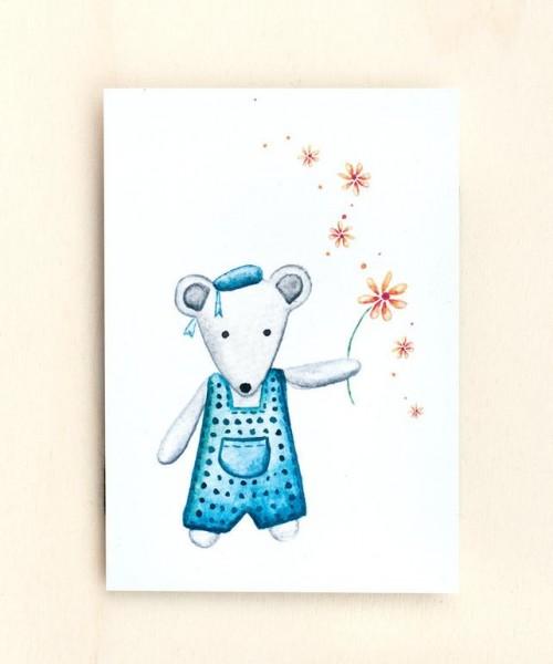 Postkarte Mäusejunge