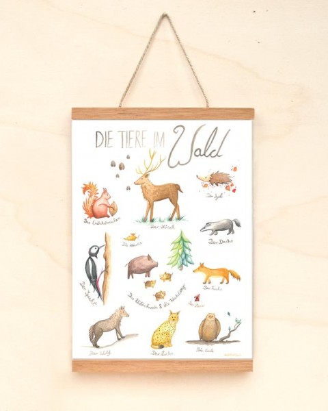 Poster Tiere im Wald