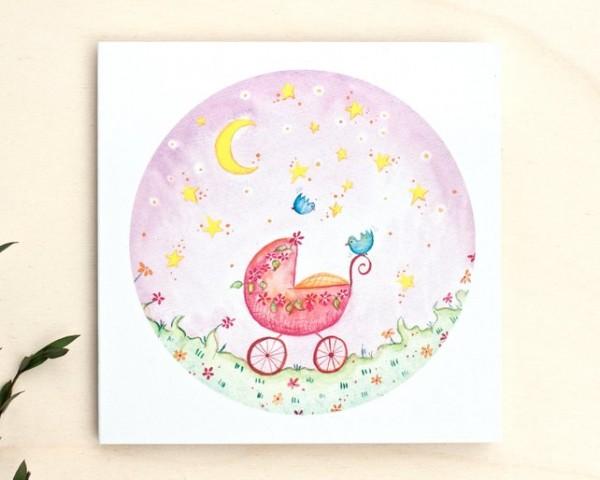 Grußkarte Baby- Mädchen
