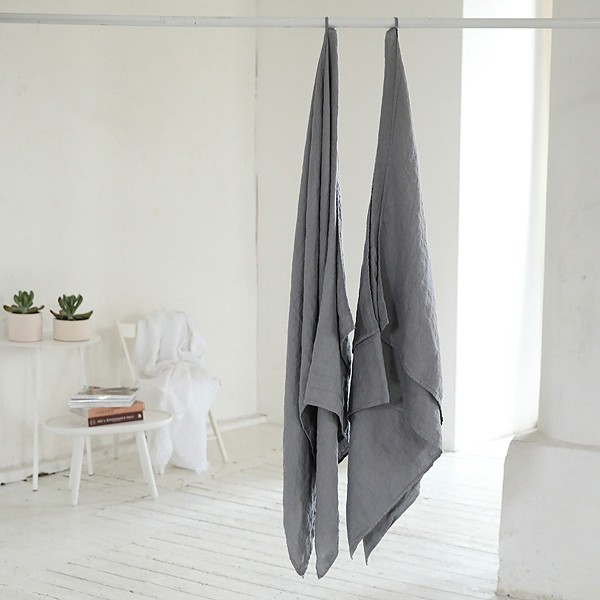 Leinen Badehandtuch XL 100x160cm