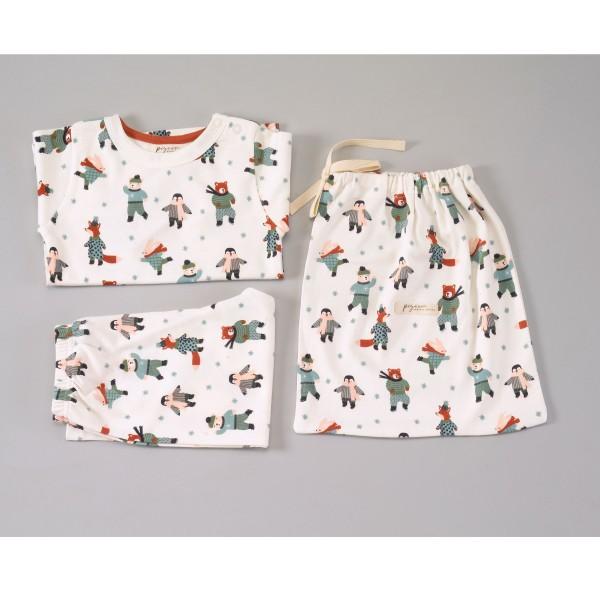 Pyjama 2-Teiler Wintertiere