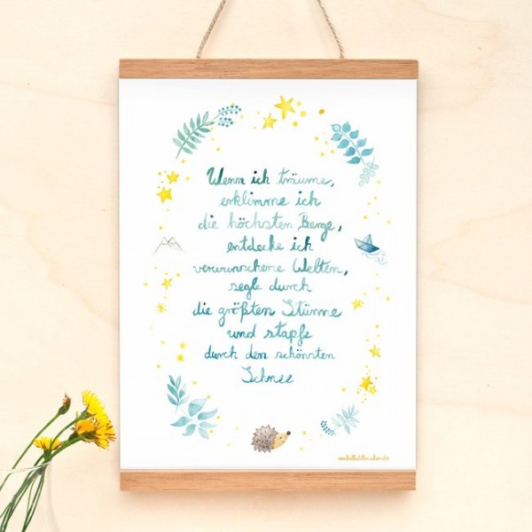 Poster A4 Gedicht