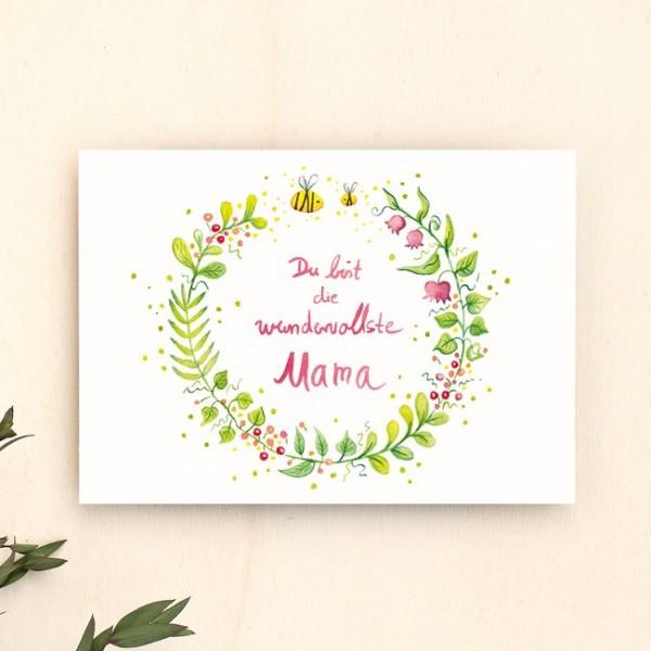 Postkarte Mama