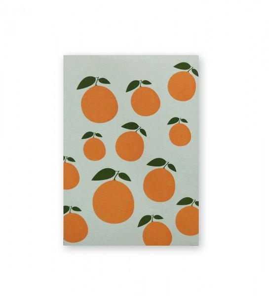 Postkarte Mandarine