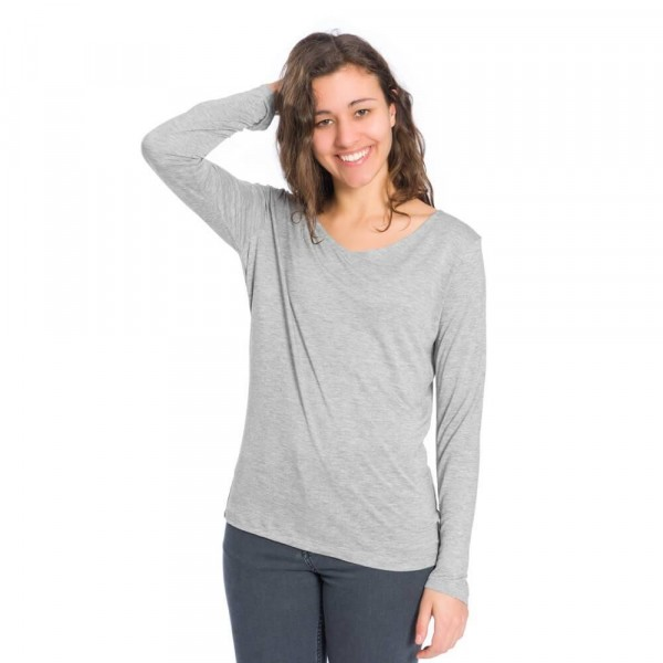 Damen Tencel Longshirt