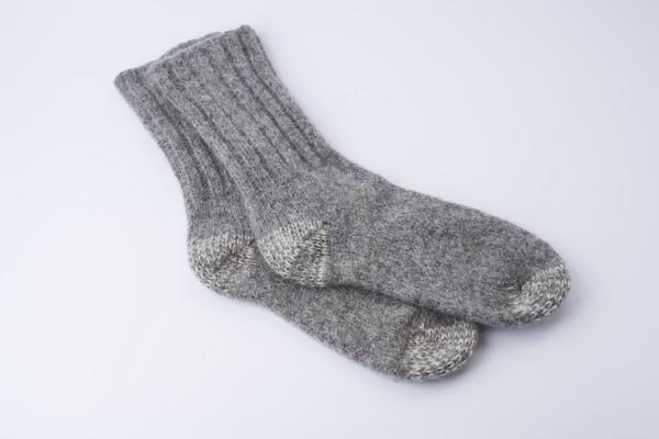 Socken gewalkt mit verstärkter Sohle